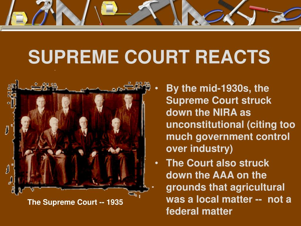 SUPREME COURT REACTS