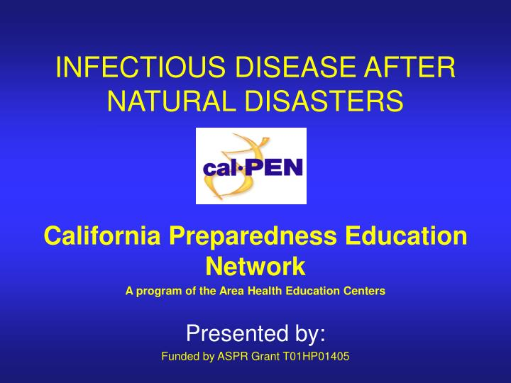 Infectious disease after natural disasters