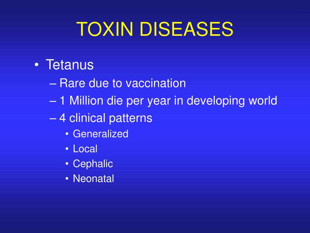 TOXIN DISEASES
