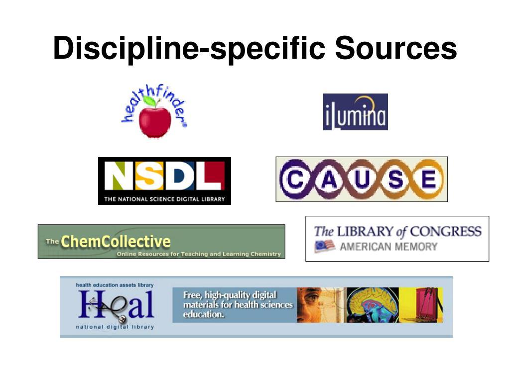 Discipline-specific Sources