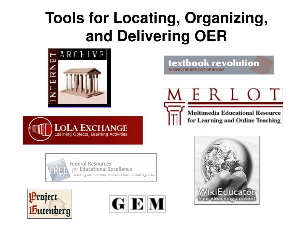 Tools for Locating, Organizing,