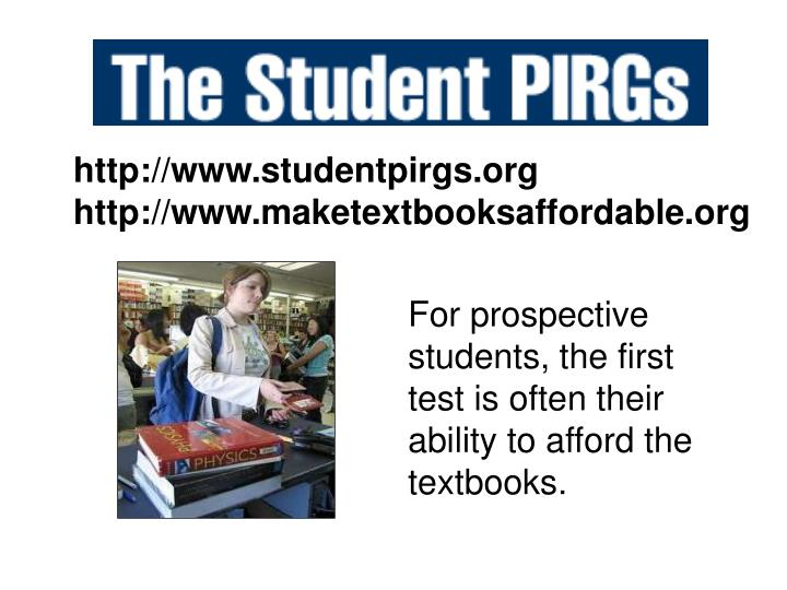 Http://www.studentpirgs.org