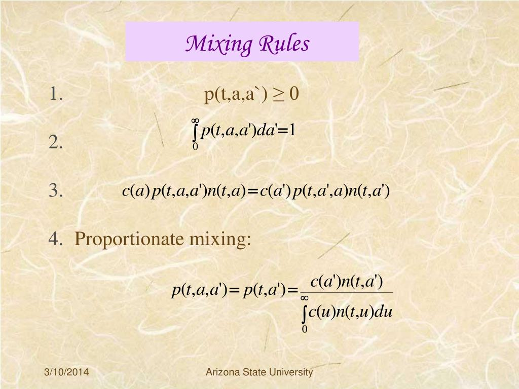 Mixing Rules