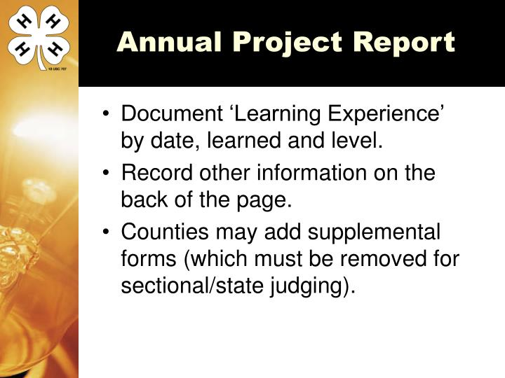 Annual Project Report