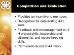 competition and evaluation