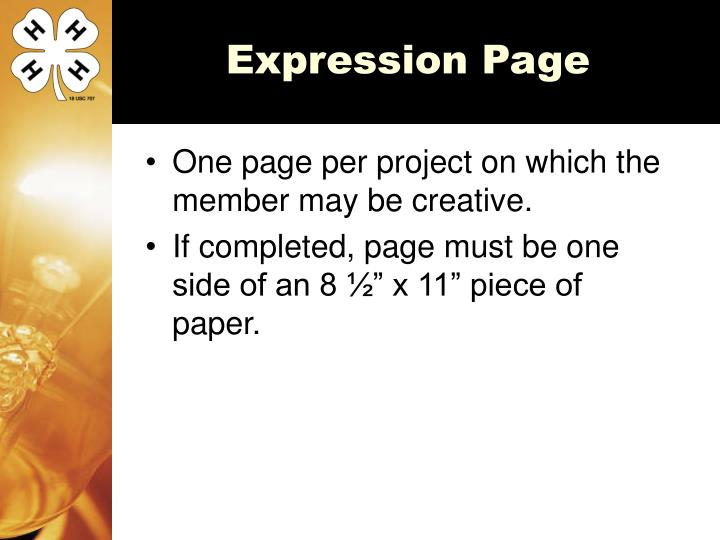 Expression Page