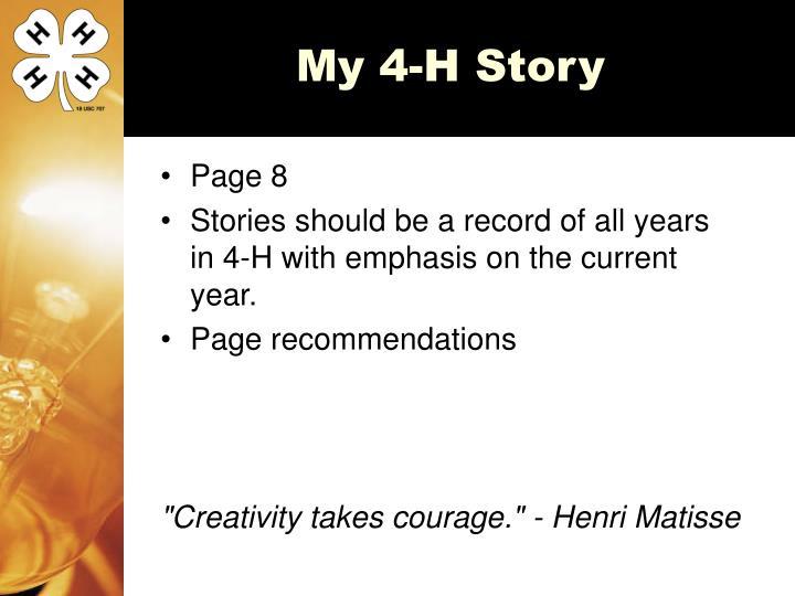 My 4-H Story