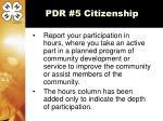 pdr 5 citizenship