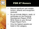 pdr 7 honors