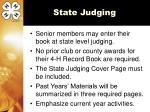 state judging