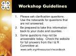 workshop guidelines