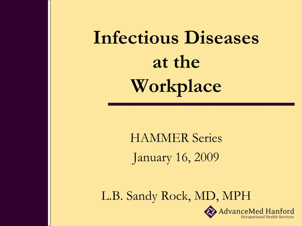 infectious diseases at the workplace l.