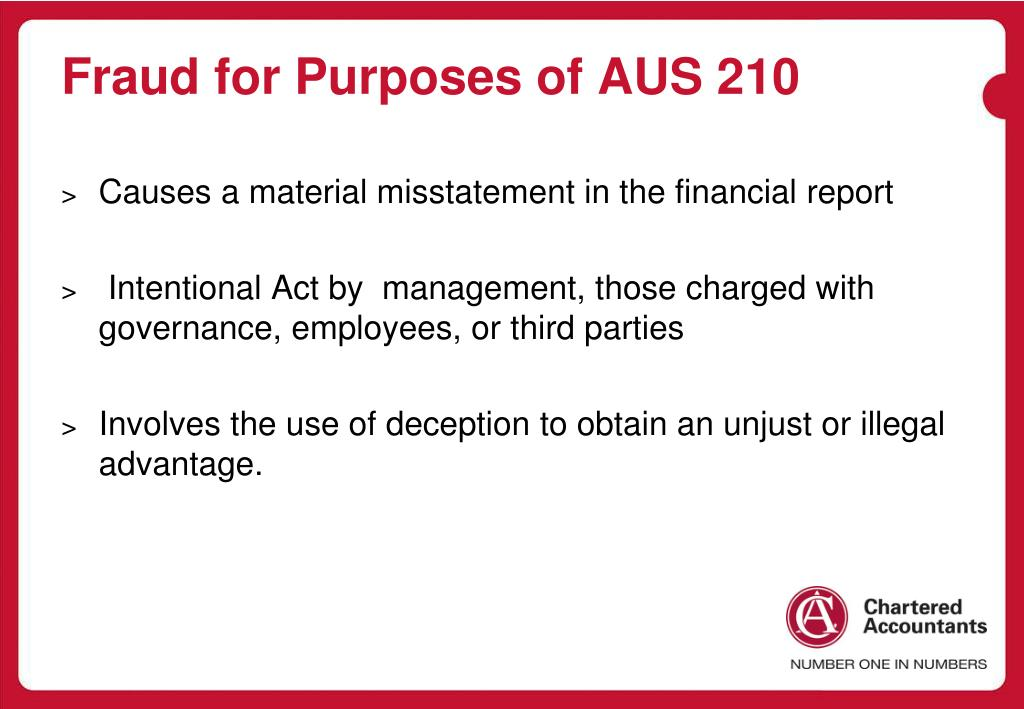 Fraud for Purposes of AUS 210