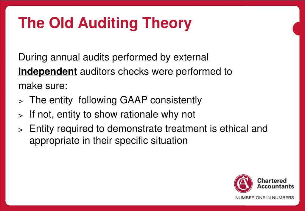 The Old Auditing Theory