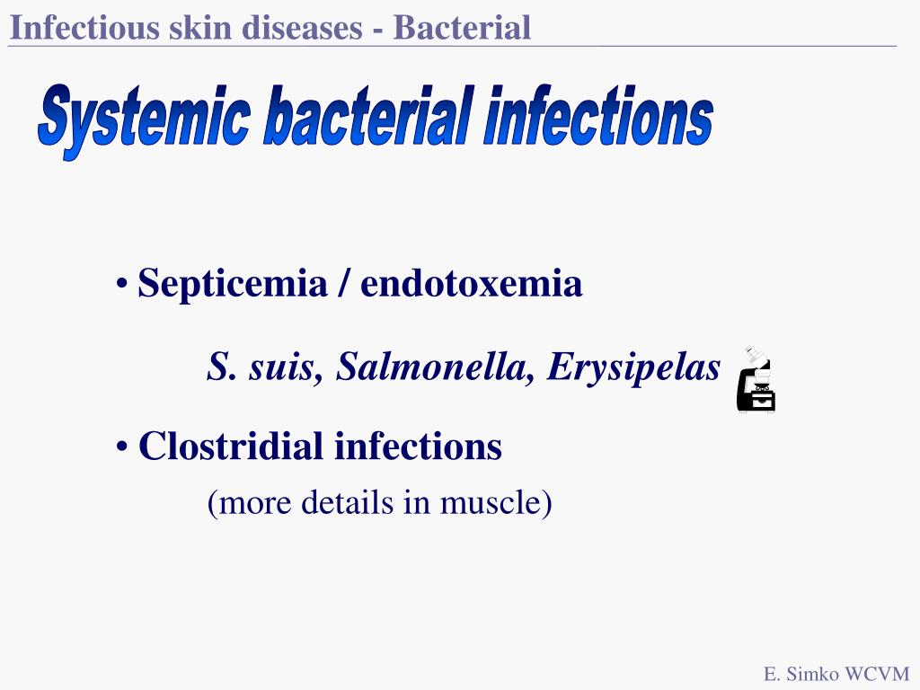 Infectious skin diseases - Bacterial