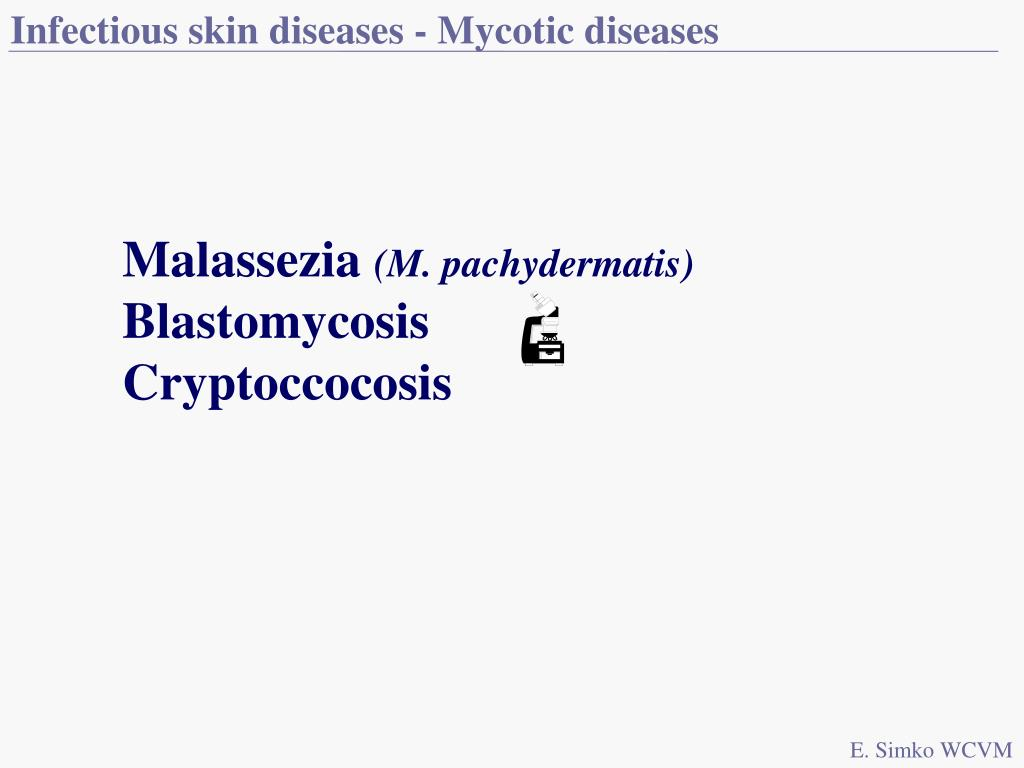 Infectious skin diseases - Mycotic diseases
