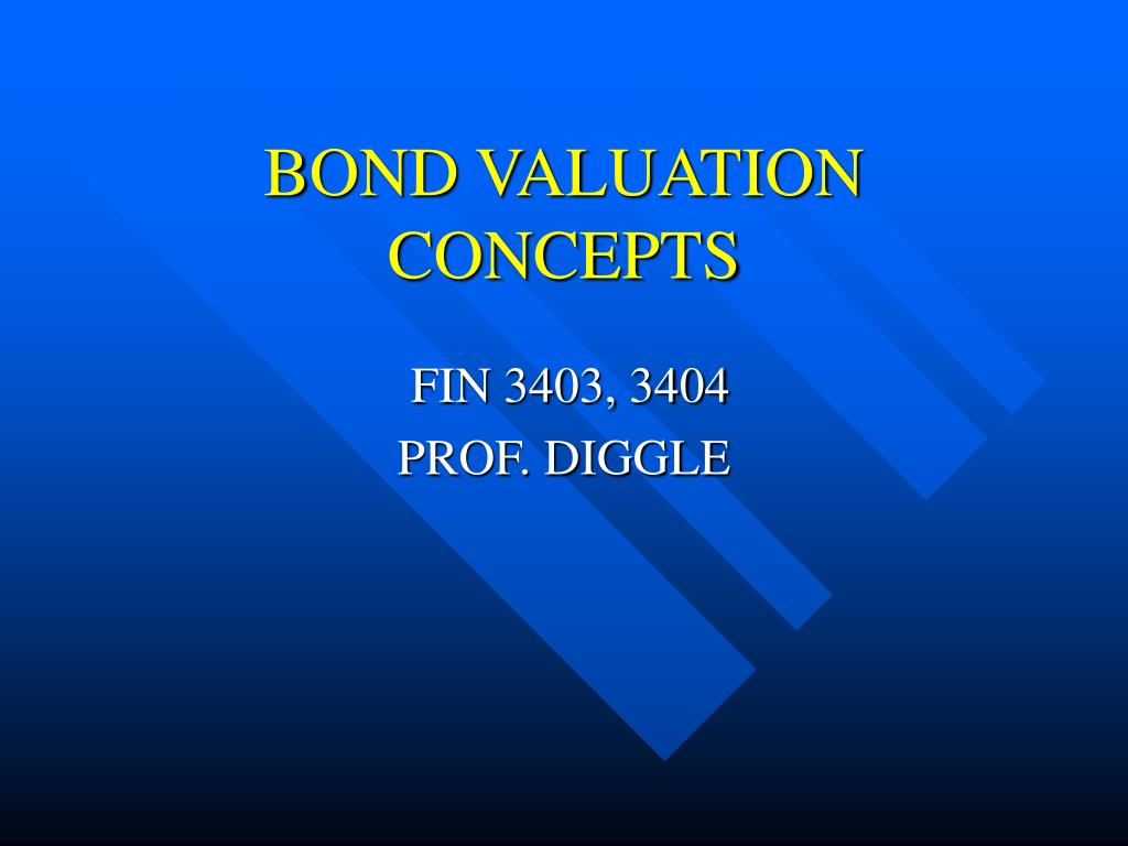bond valuation concepts l.