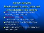 muny bonds bonds issued by states cities and local authorities like airports