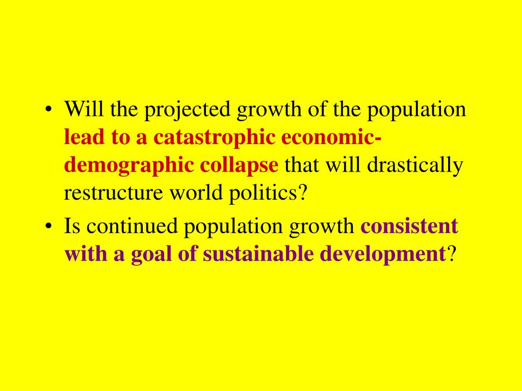 Will the projected growth of the population