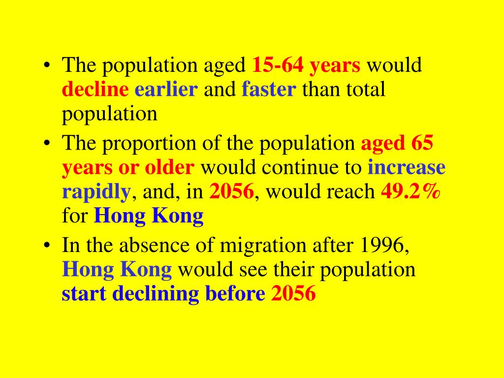 The population aged