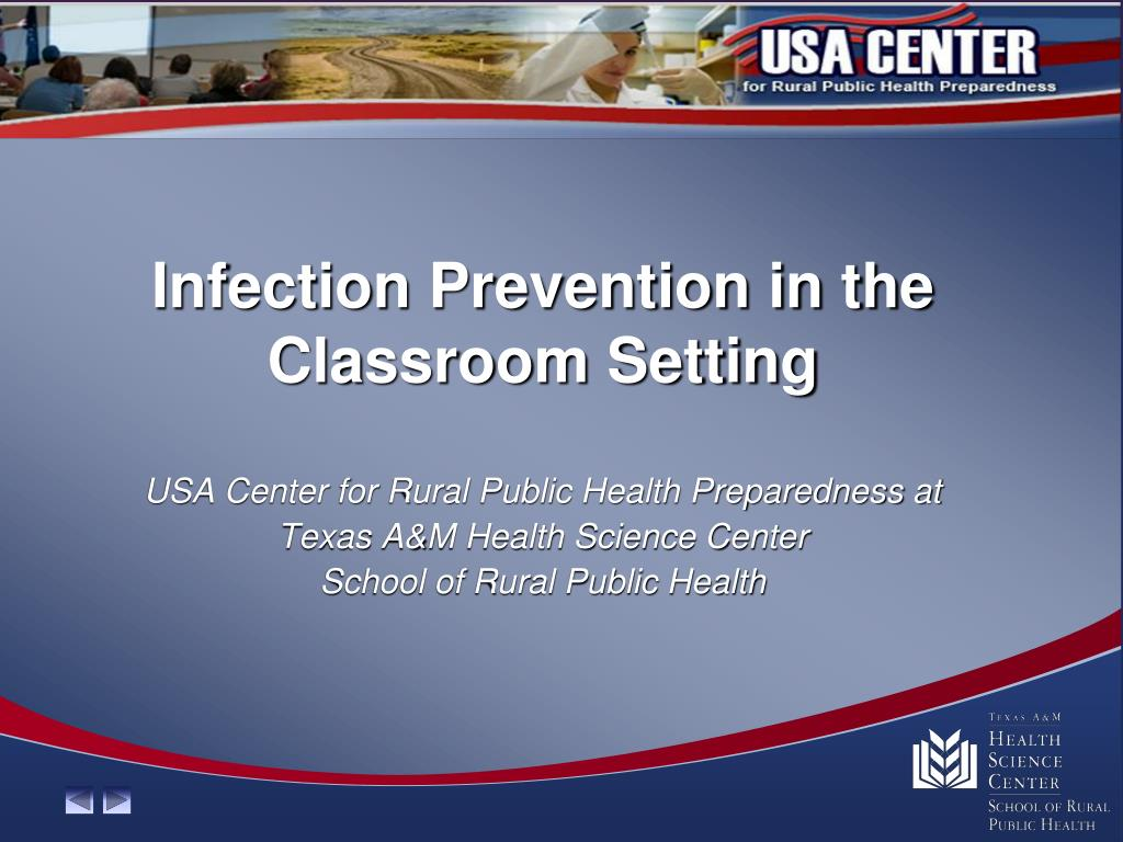 infection prevention in the classroom setting l.