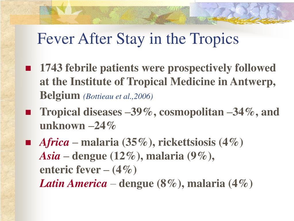 Fever After Stay in the Tropics