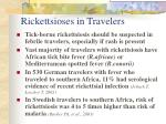 rickettsioses in travelers