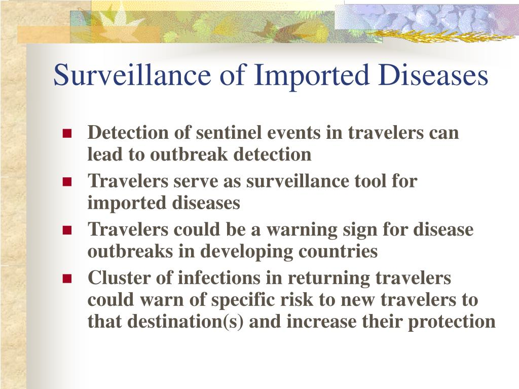 Surveillance of Imported Diseases