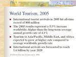 world tourism 2005