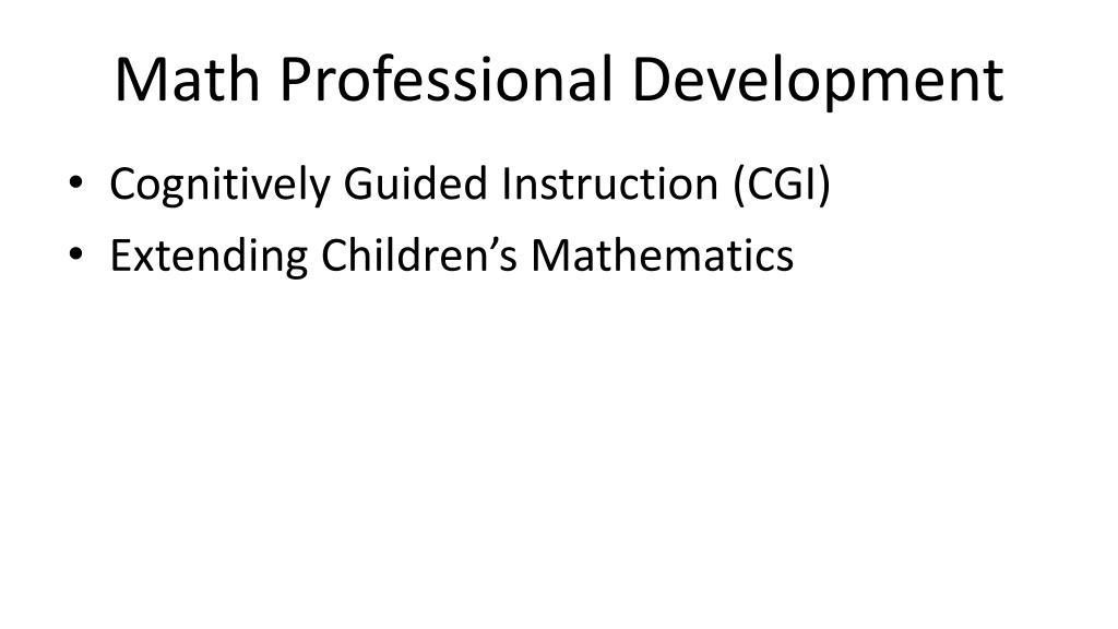 Math Professional Development