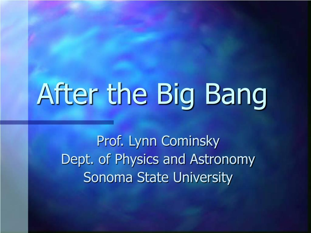 an overview of the big band theories in astronomy Noun astronomy a theory that deduces a cataclysmic birth of the universe (big bang) from the observed expansion of the universe, cosmic background radiation, abundance of the elements, and the laws of physics.