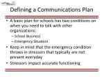 defining a communications plan