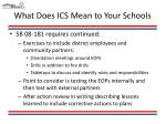 what does ics mean to your schools11