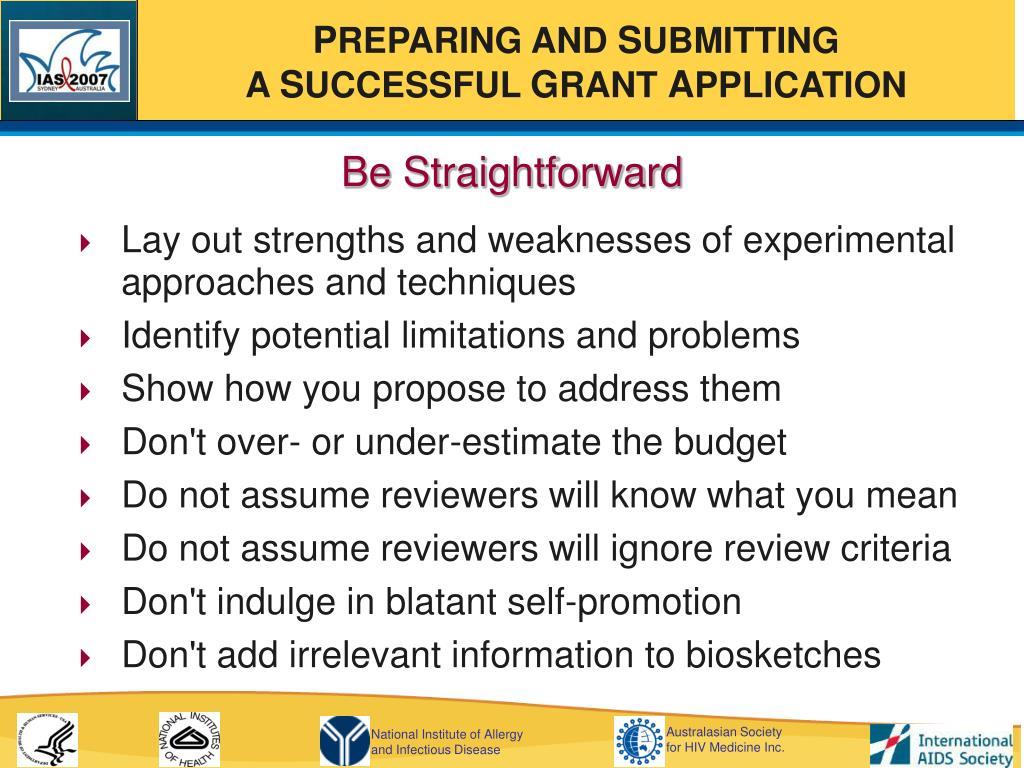 Be Straightforward
