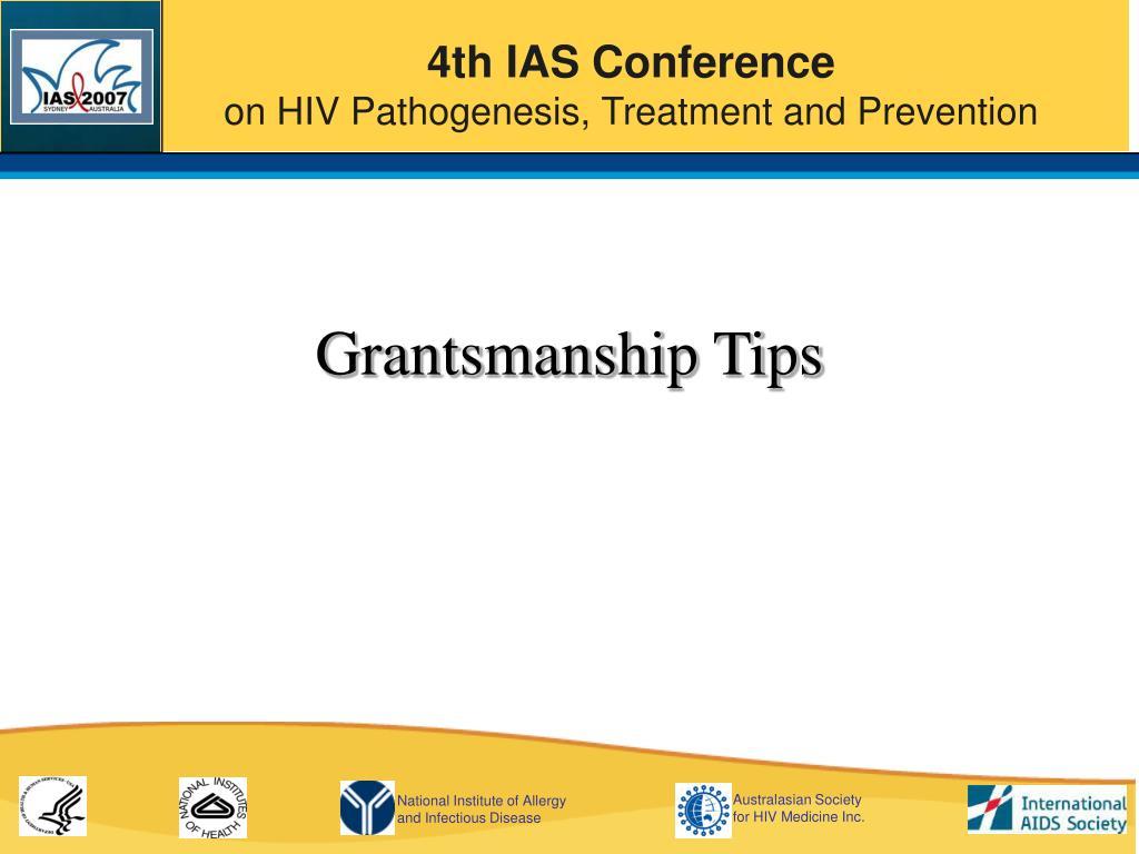 Grantsmanship Tips