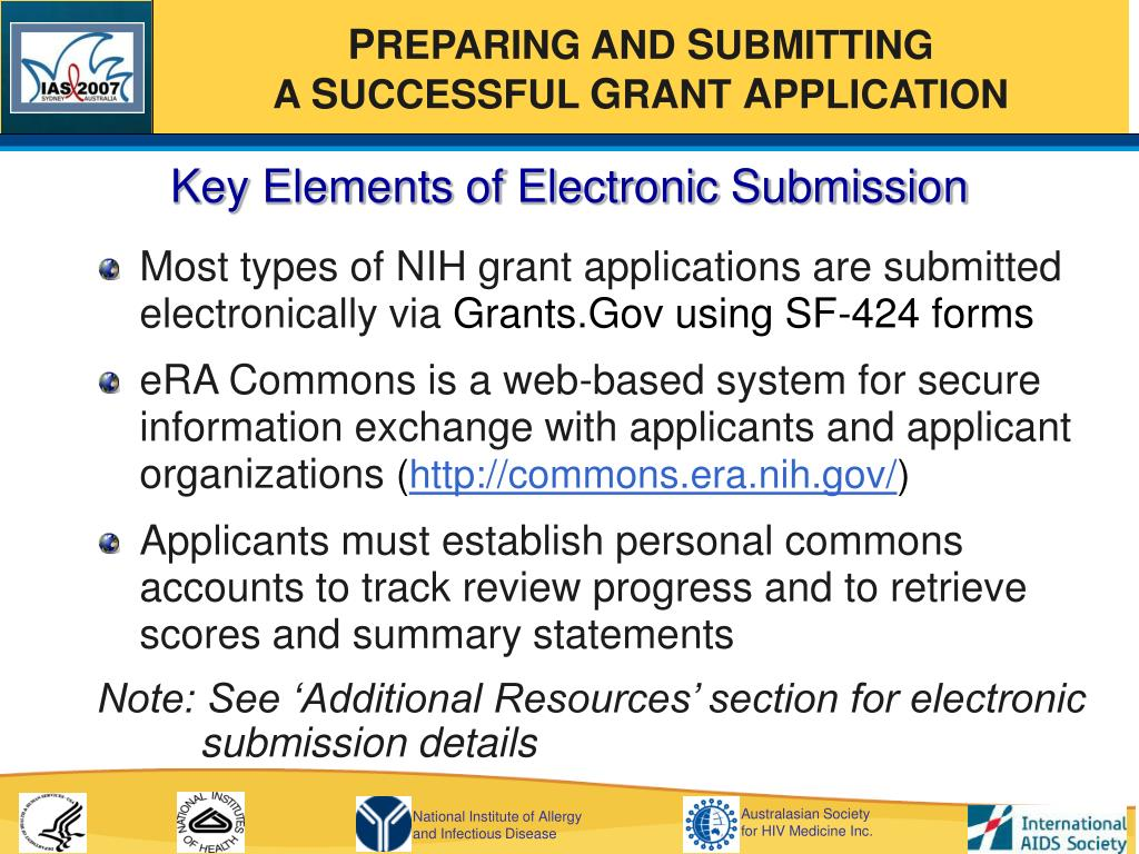 Key Elements of Electronic Submission