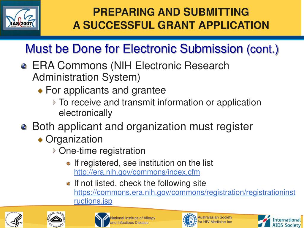 Must be Done for Electronic Submission