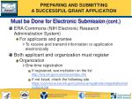 must be done for electronic submission cont49