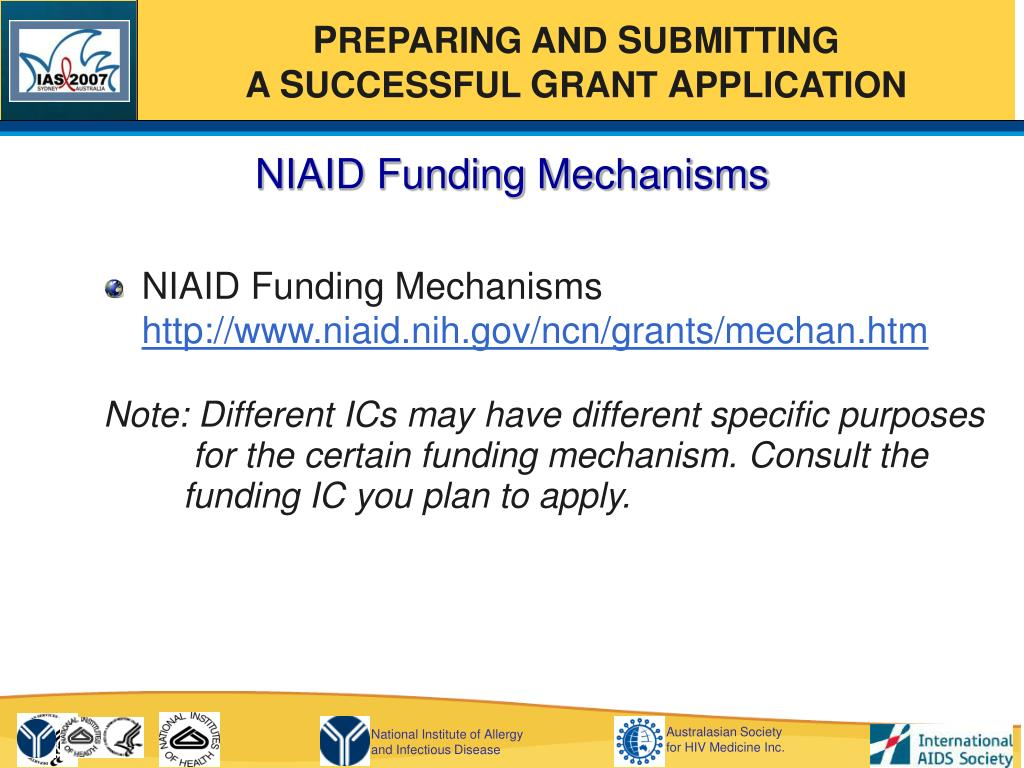NIAID Funding Mechanisms