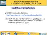 niaid funding mechanisms
