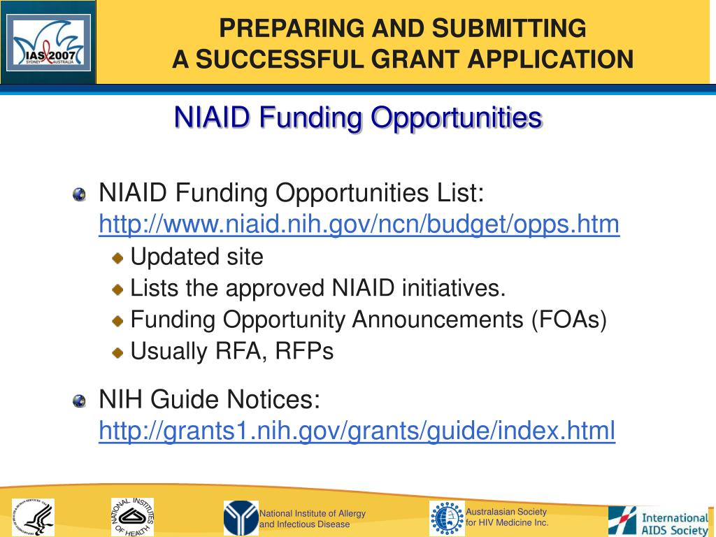 NIAID Funding Opportunities