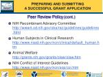 peer review policy cont