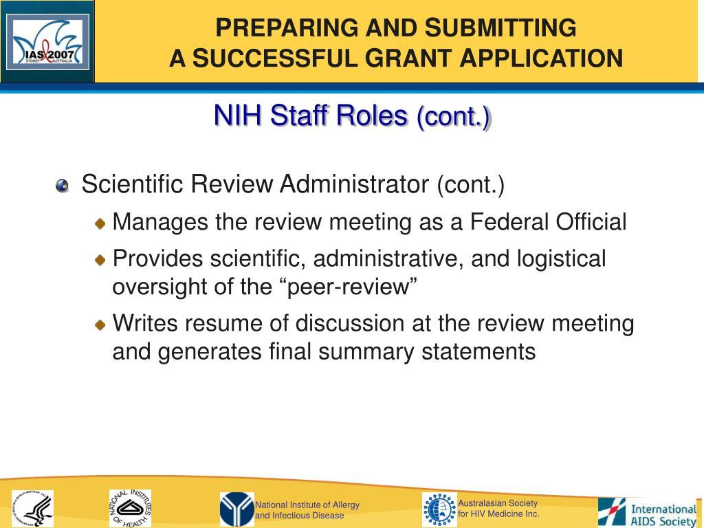 NIH Staff Roles