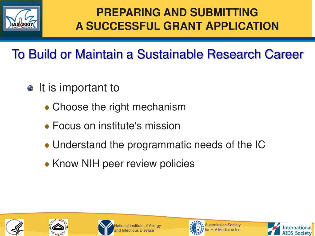 To Build or Maintain a Sustainable Research Career