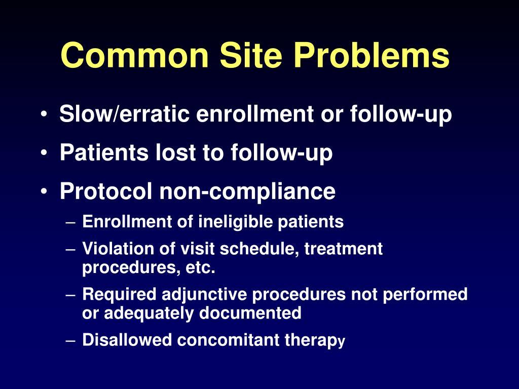 Common Site Problems