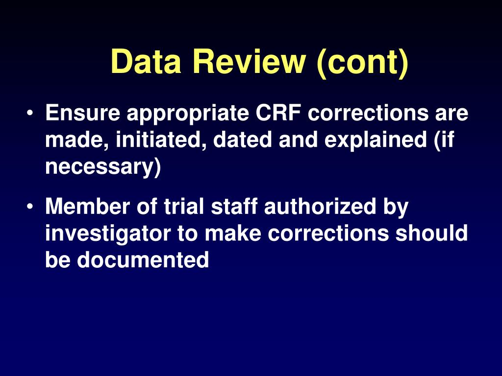 Data Review (cont)