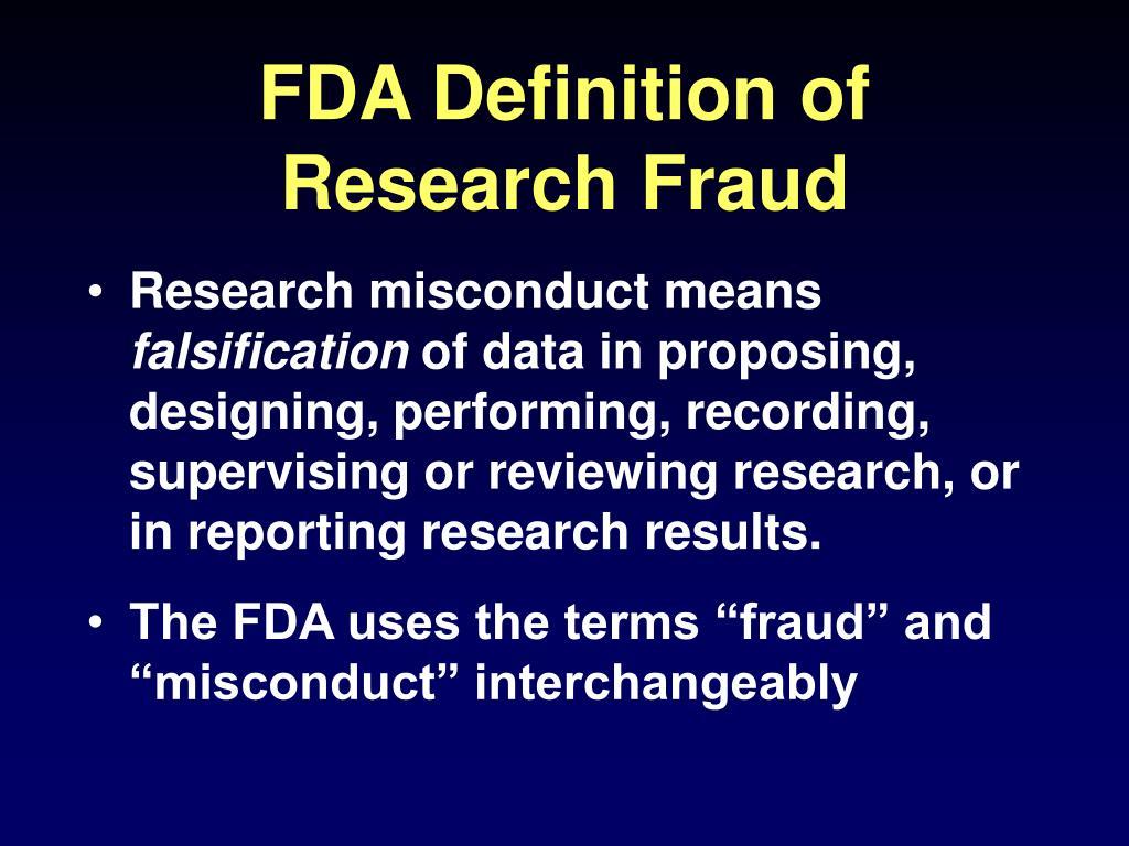 FDA Definition of