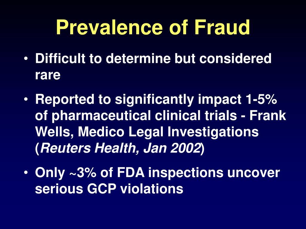Prevalence of Fraud