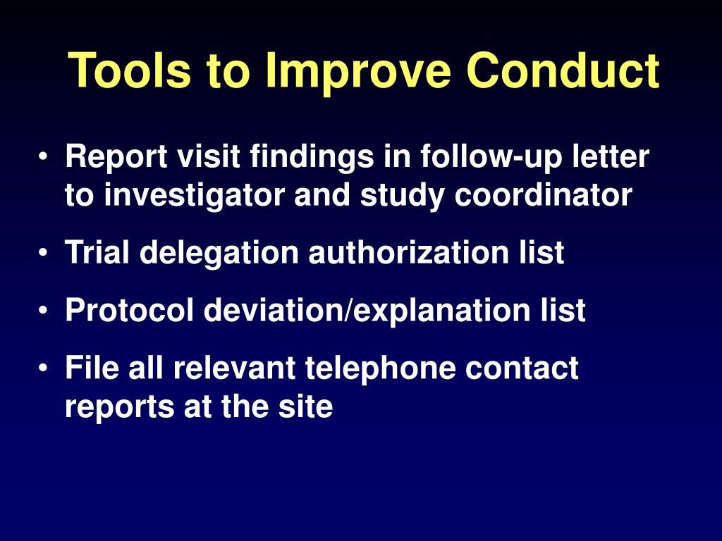 Tools to Improve Conduct