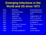 emerging infections in the world and us since 1973